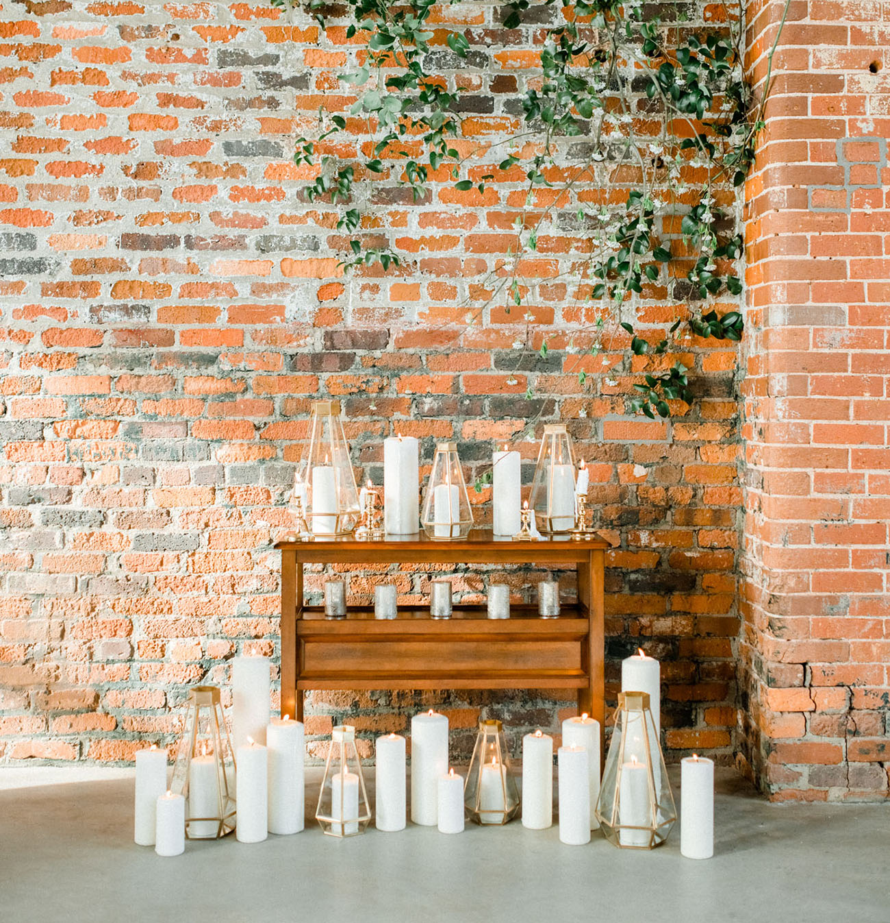 candle ceremony backdrop