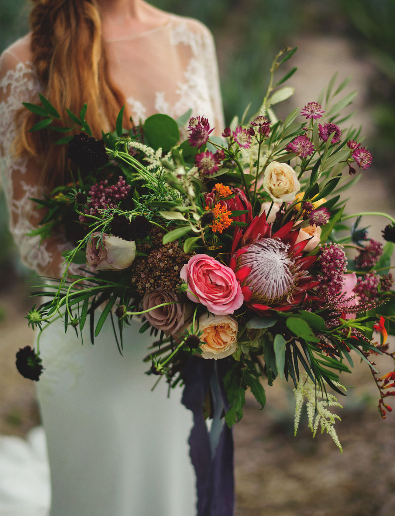 boho protea bouquet