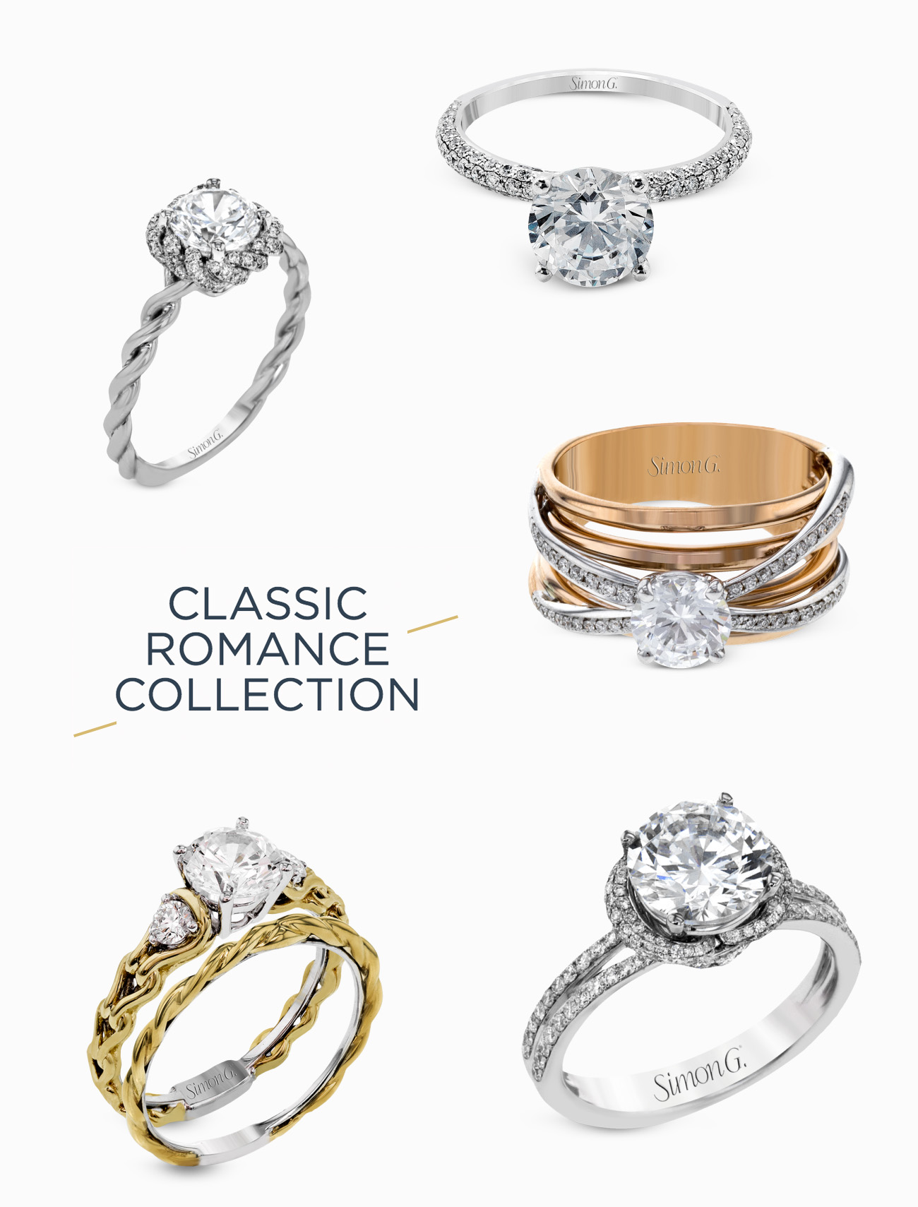 classic rings from Simon G