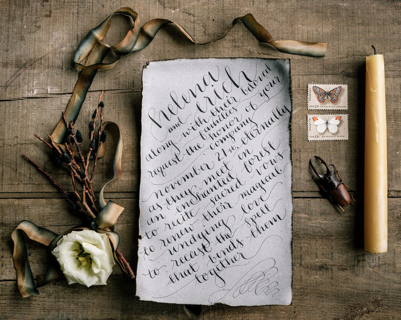 vintage calligraphy