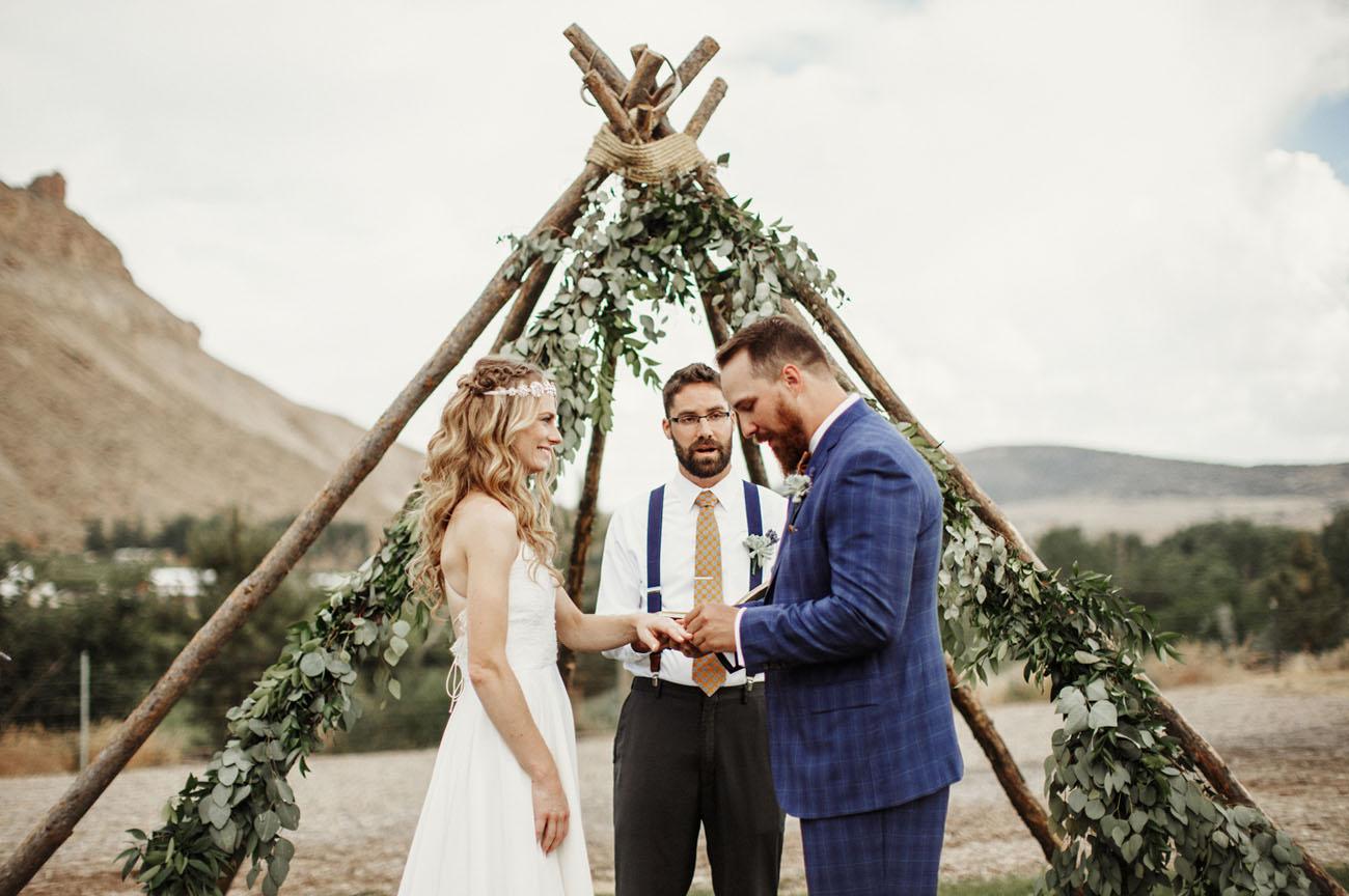 Vineyard Colorado Wedding