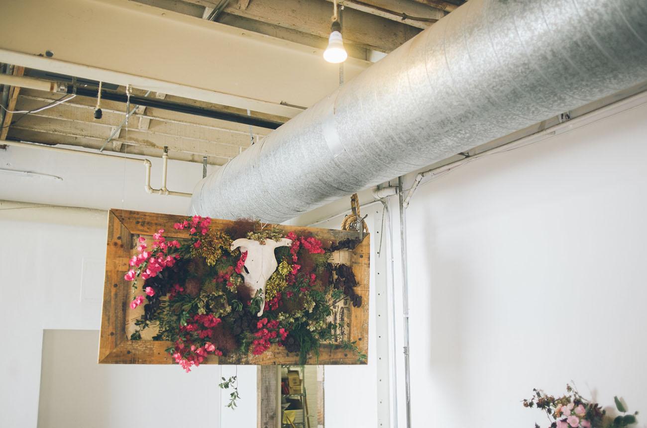 floral bar sign