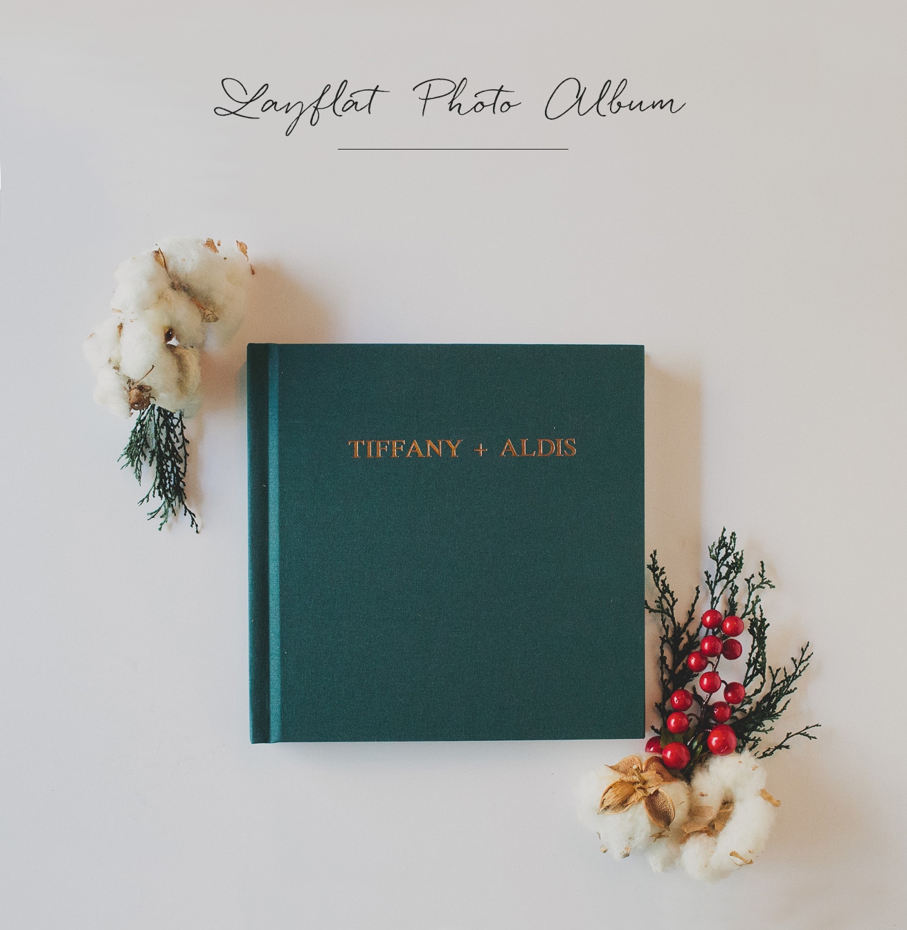 Flatlay Wedding Album from Artifact Uprising