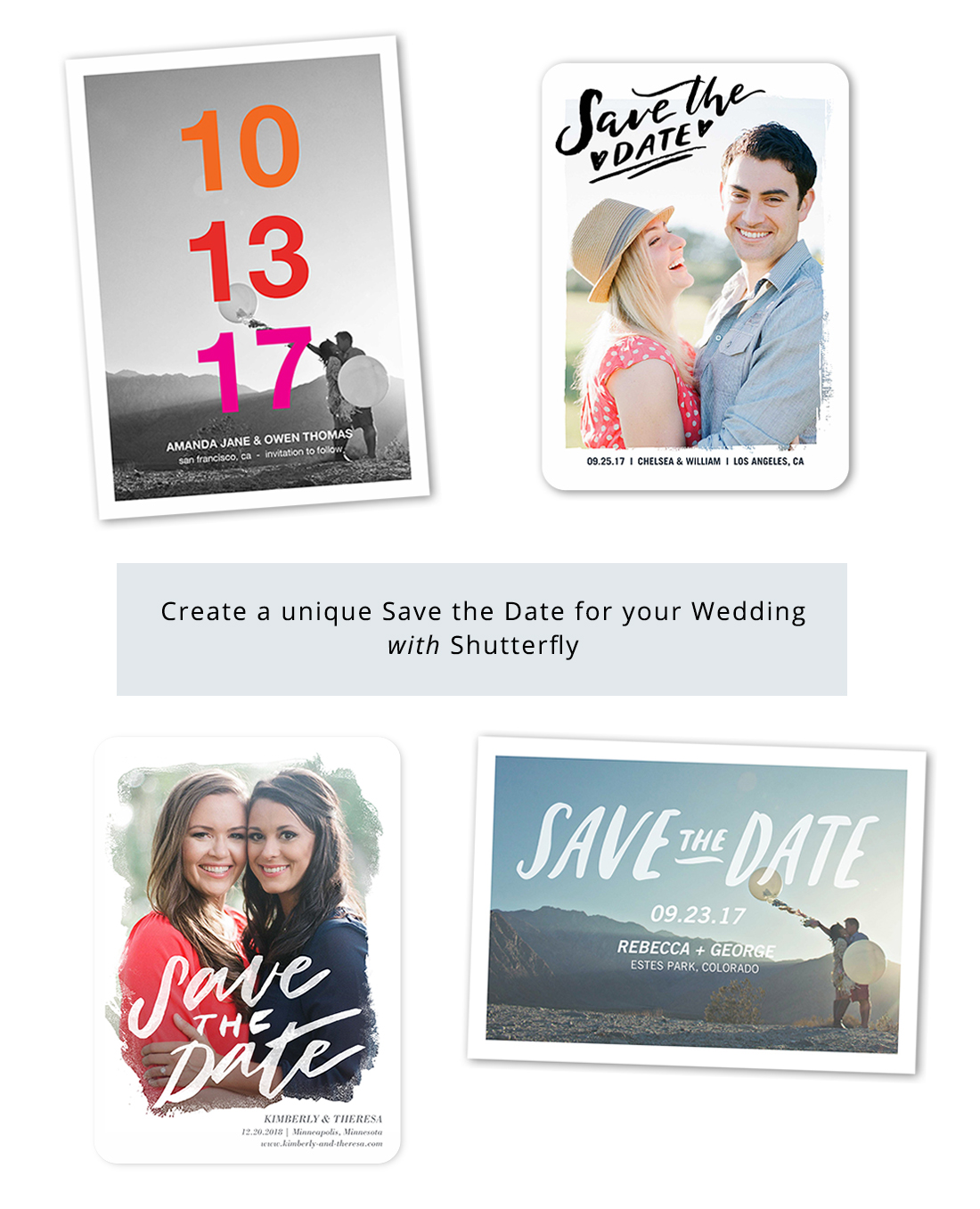 Save the Dates for Your Wedding from Shutterfly
