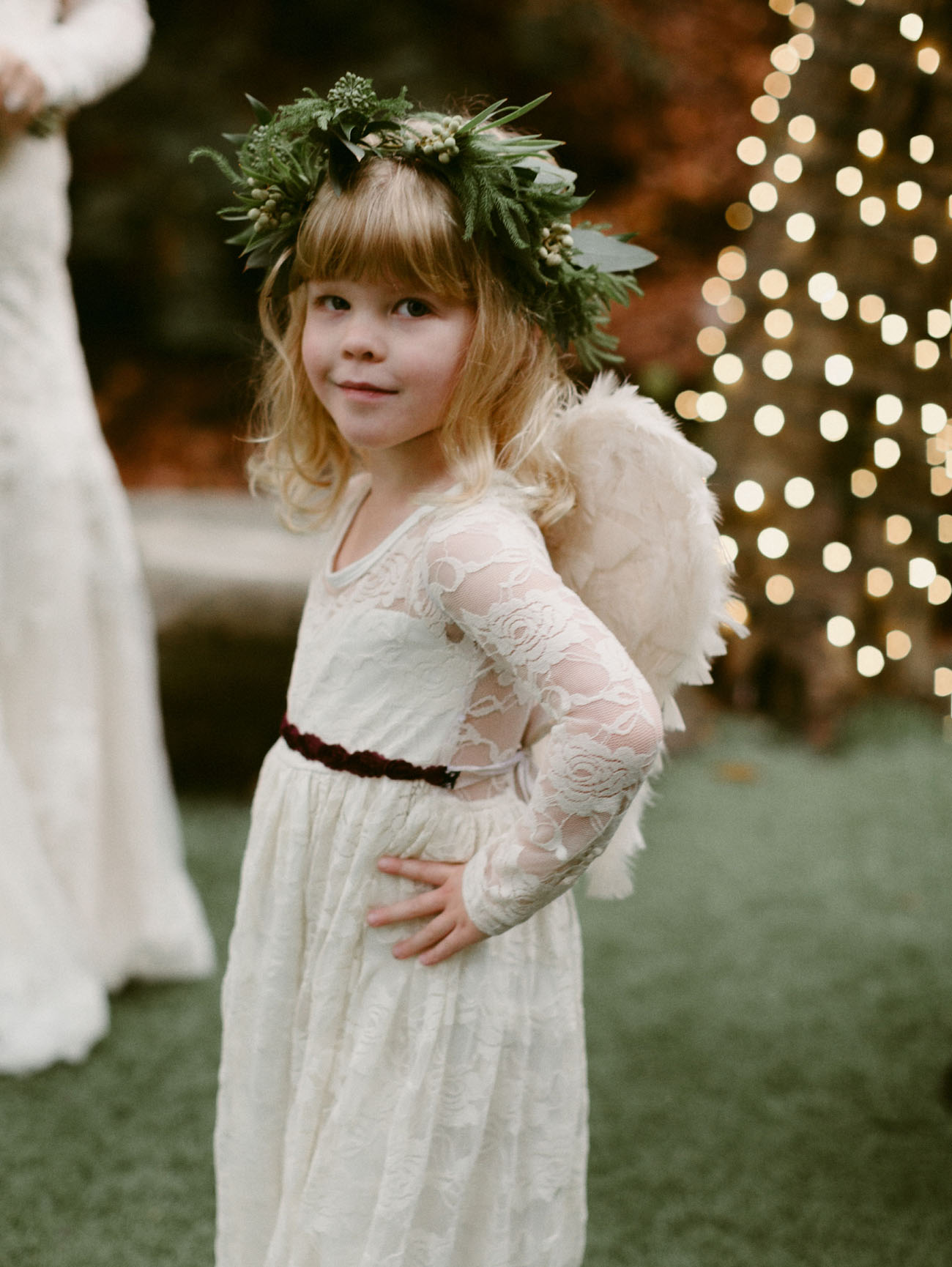 angel wing flower girl