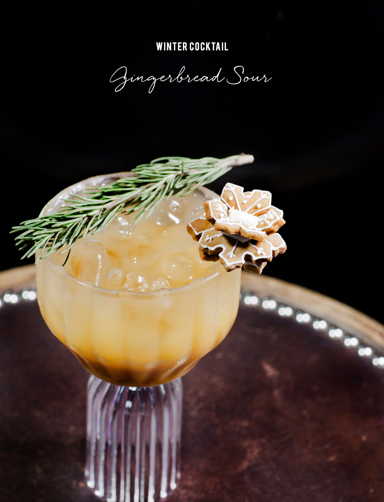 Holiday Cocktail Gingerbread Sour