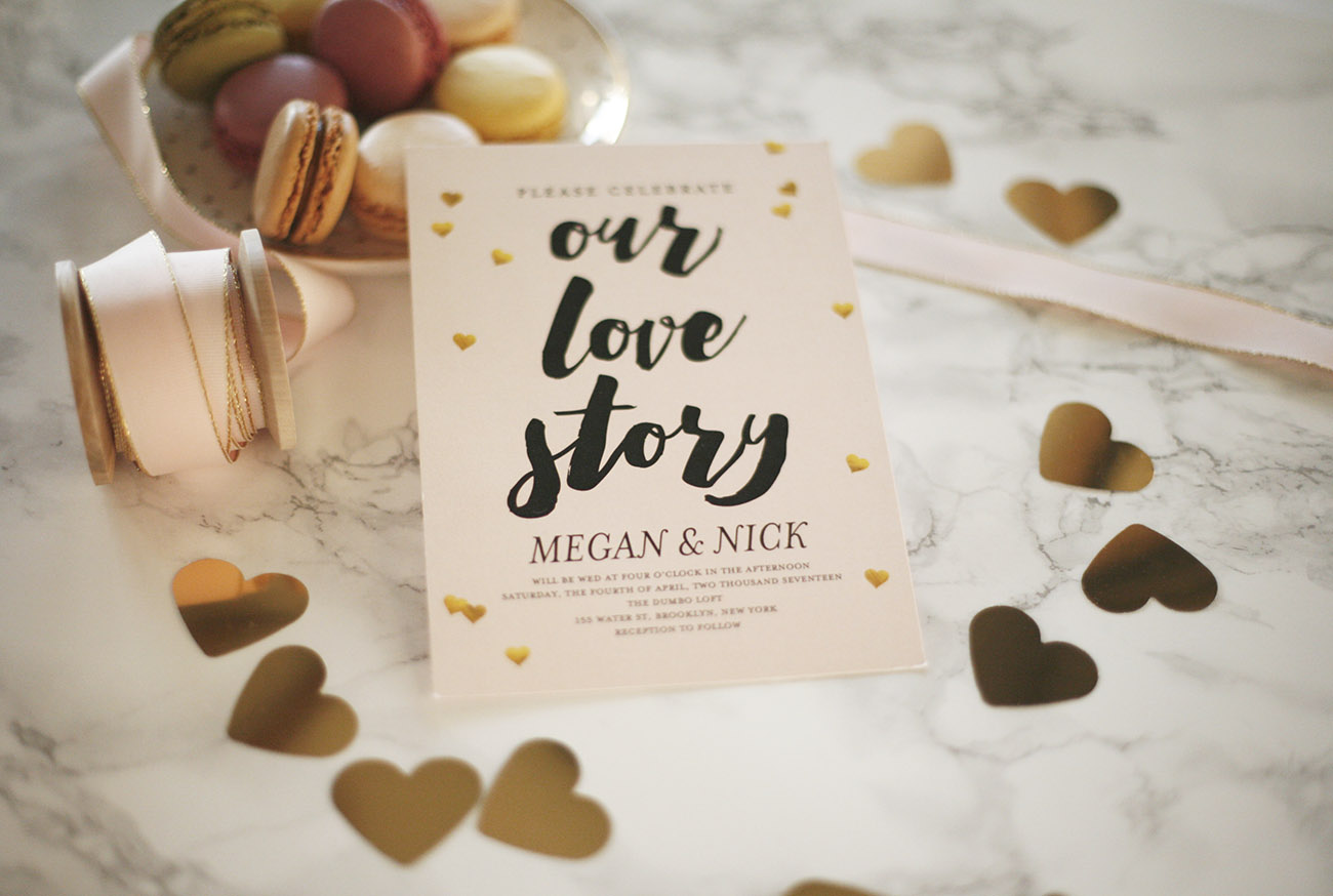 Love Story Invite from Shutterfly