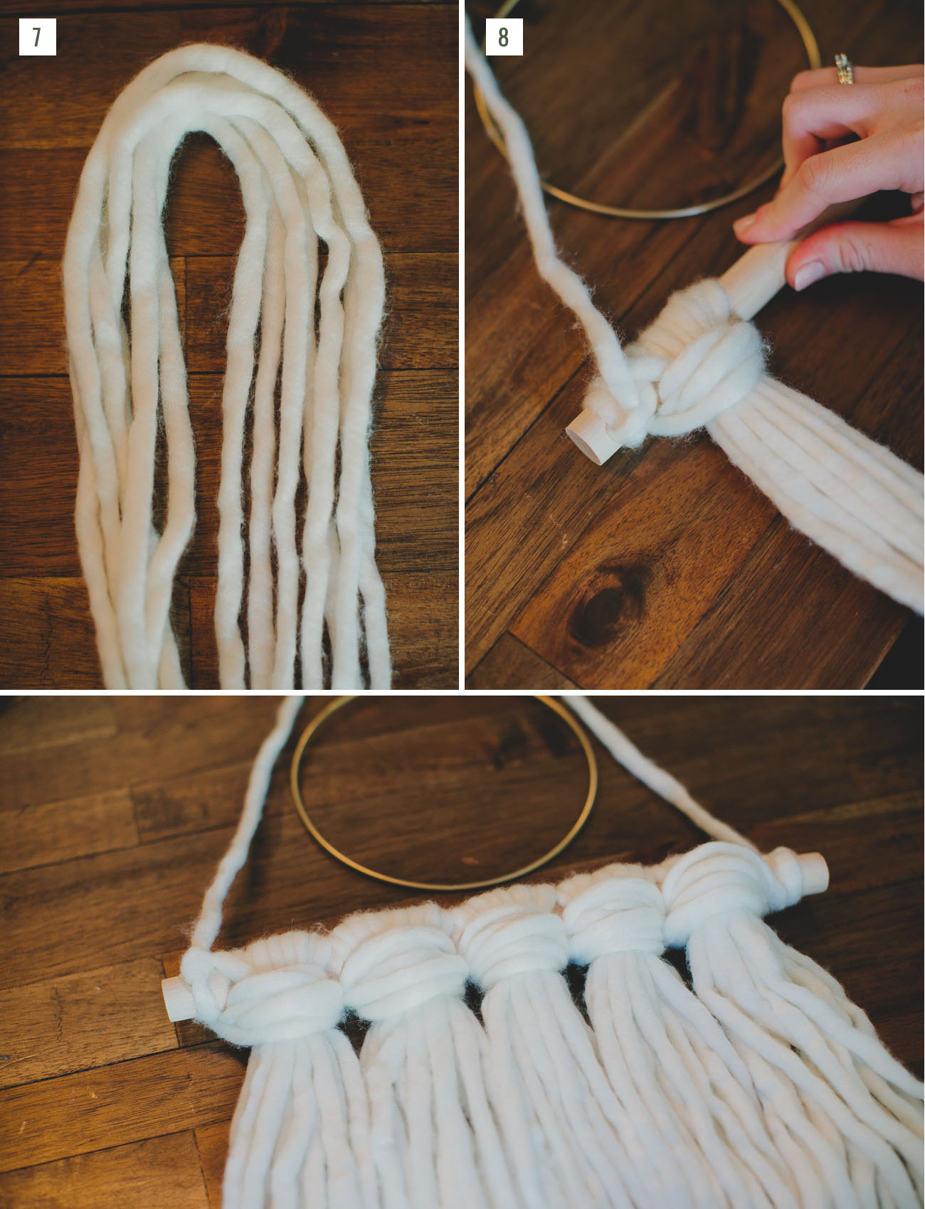 DIY Holiday Yarn Hanging with Afloral