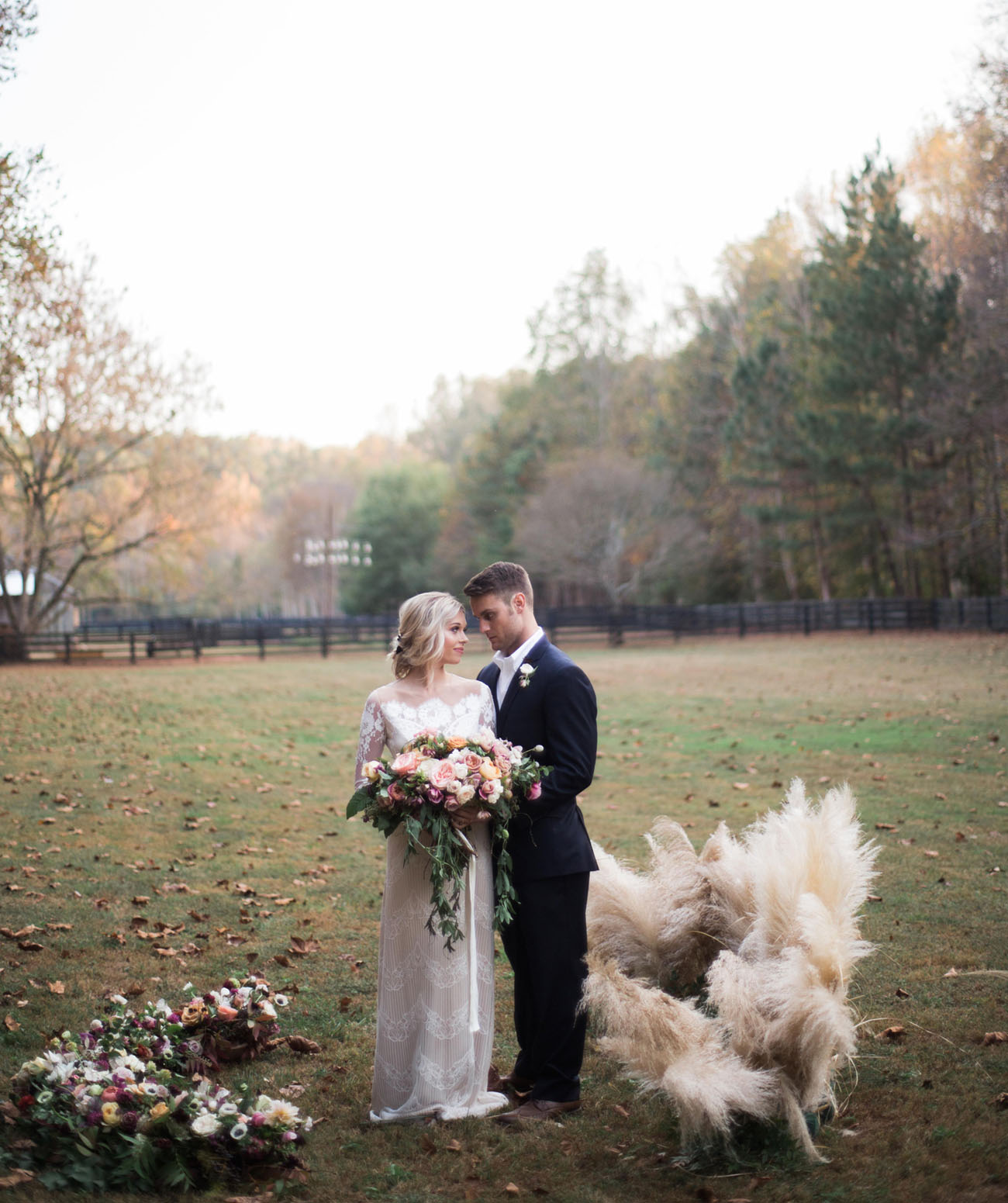 pampas grass backdrop