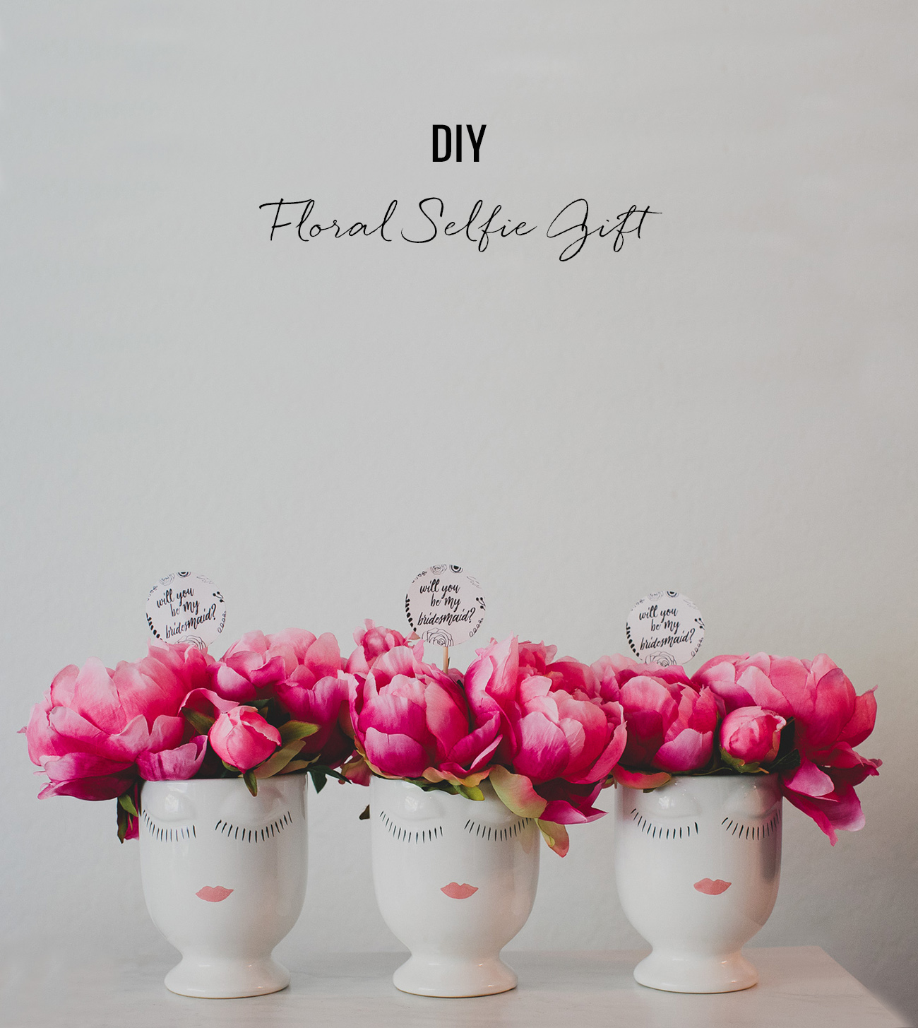 DIY Floral Selfie Gift with silk flowers