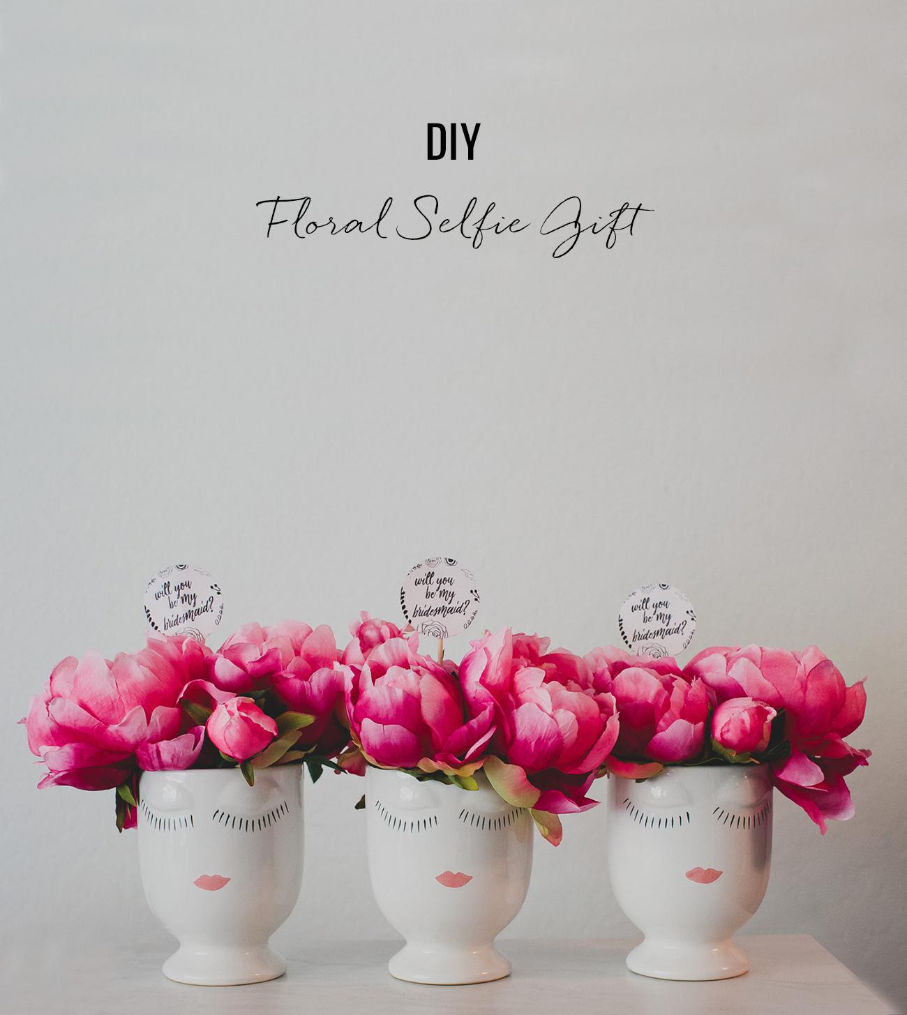 DIY Floral Selfie Gift with silk flowers