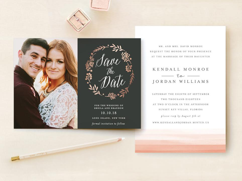 Floral Save the Dates from Minted