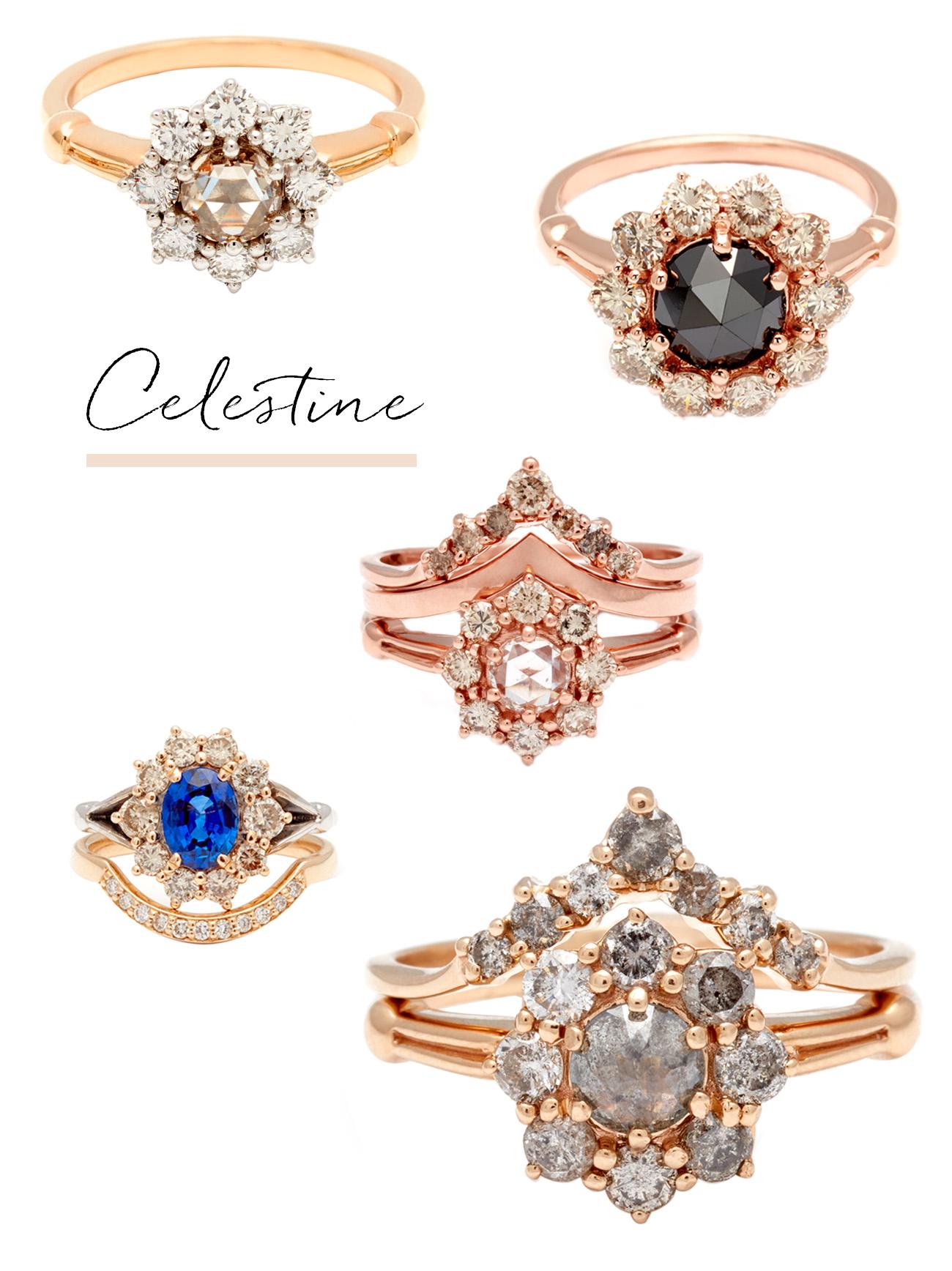 anna sheffield Celestine engagement rings