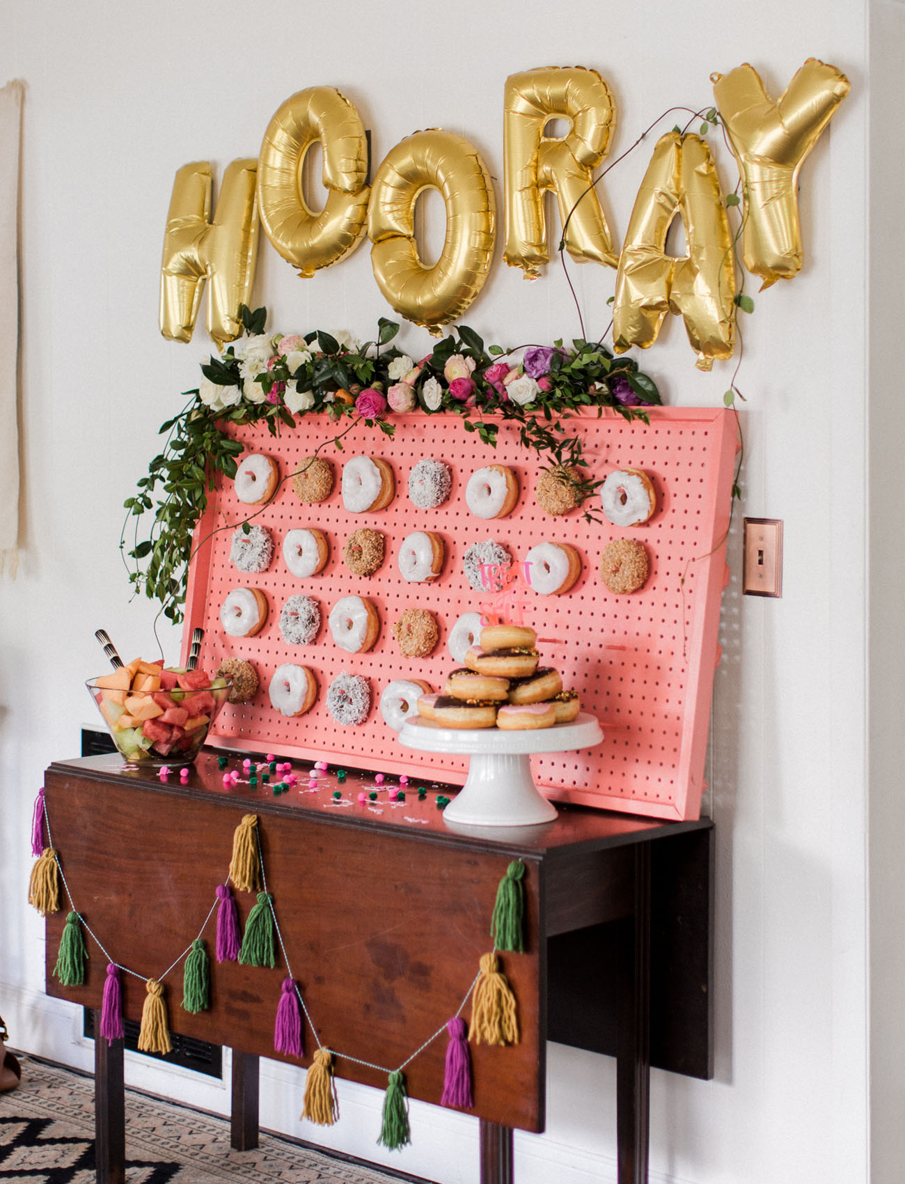 donut wall Bridal Shower photo by Kaity Brawley Photography