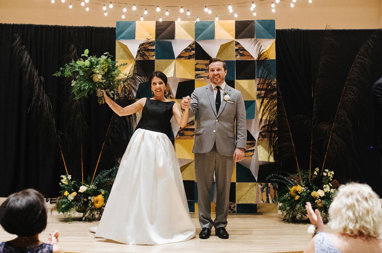 Brush Stroke Inspired Wedding