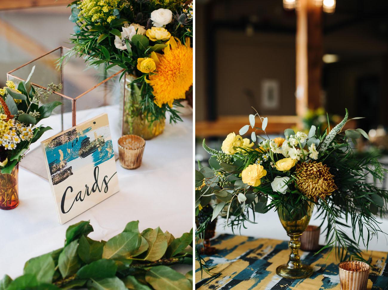 colorful wedding signage