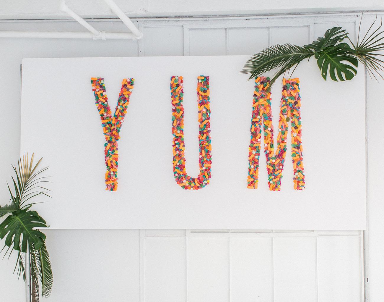 yum candy wall