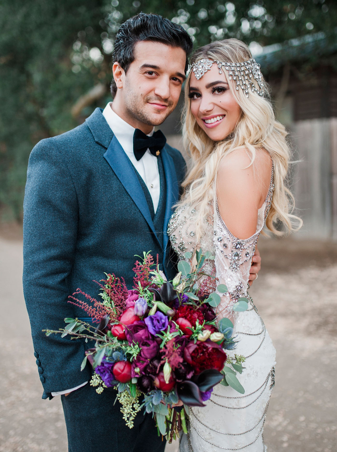 Dwts Mark Ballas Bc Jean S Bold Bohemian Inspired Wedding Green