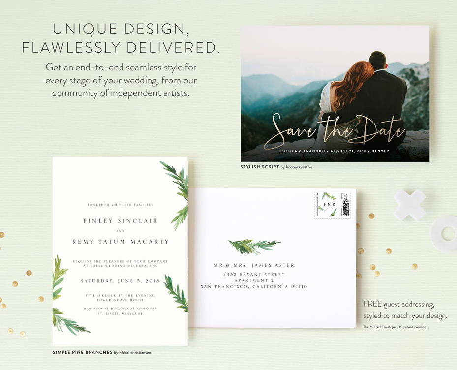 Invitation Suites from Minted 1000 Giveaway Green Wedding Shoes