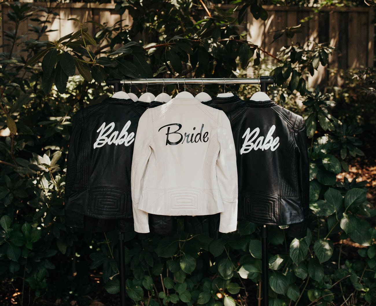 bridal party leather jackets