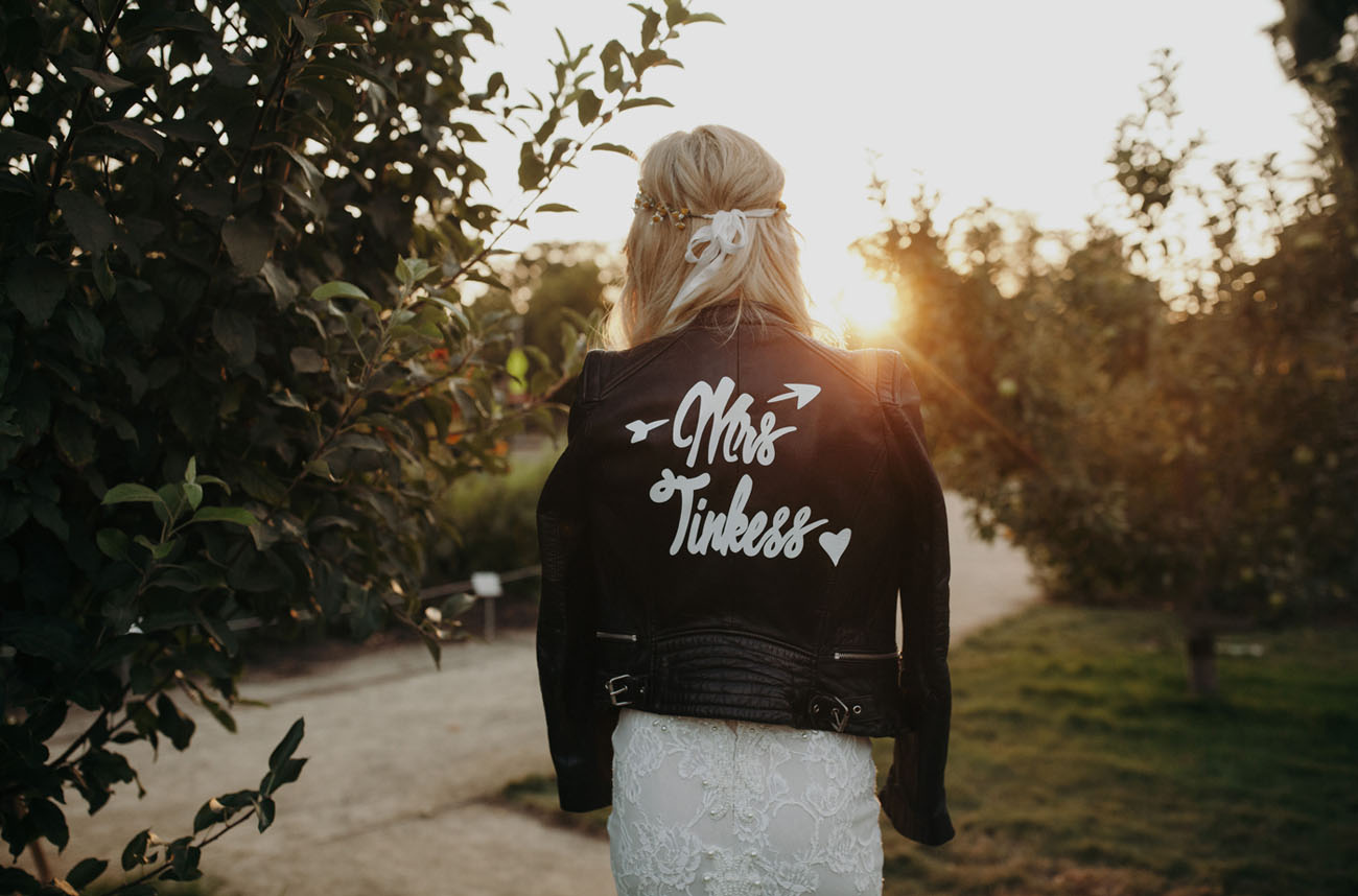 leather bridal jacket