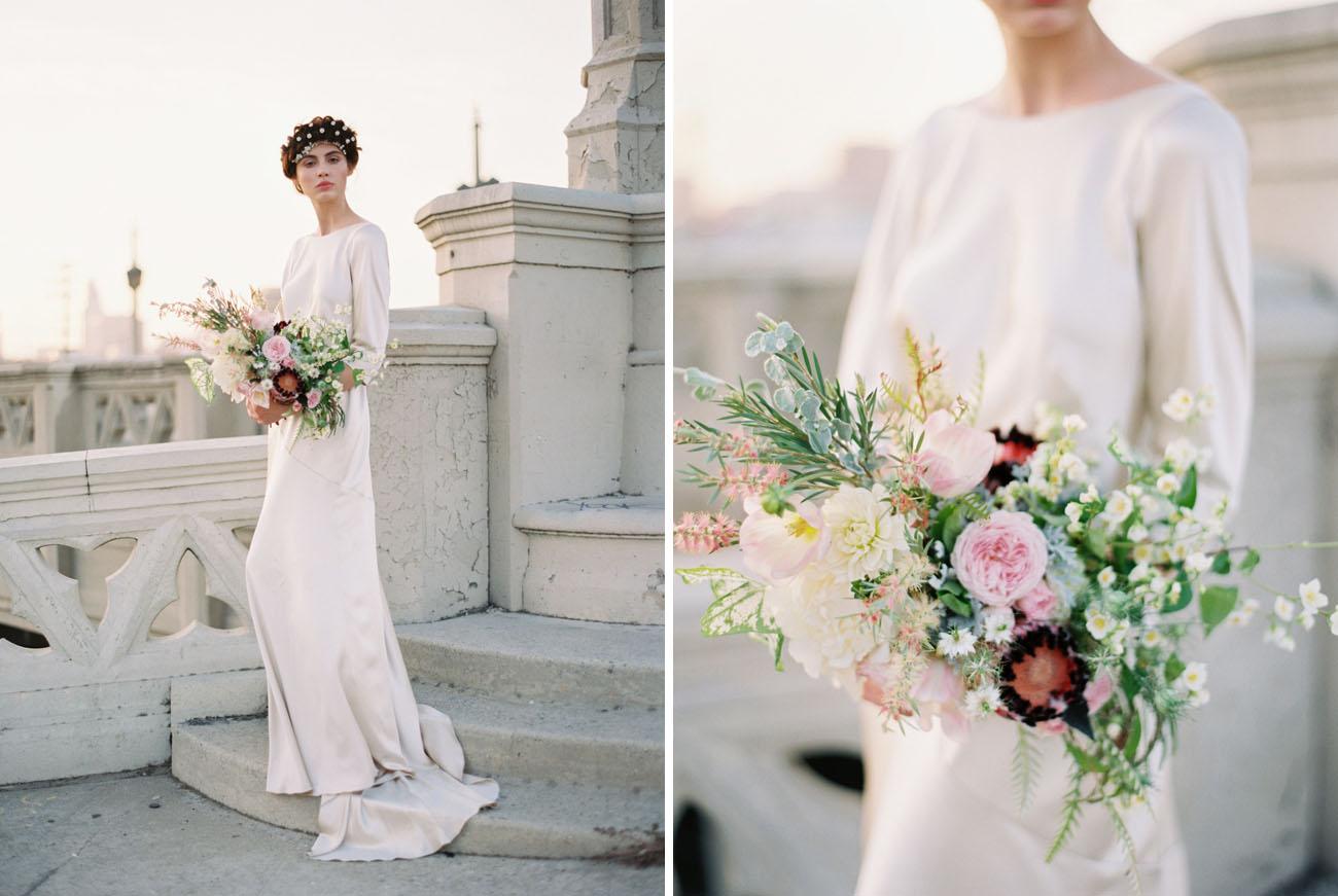 Elegant modern wedding inspiration in los angeles green wedding love lines inspiration junglespirit Images