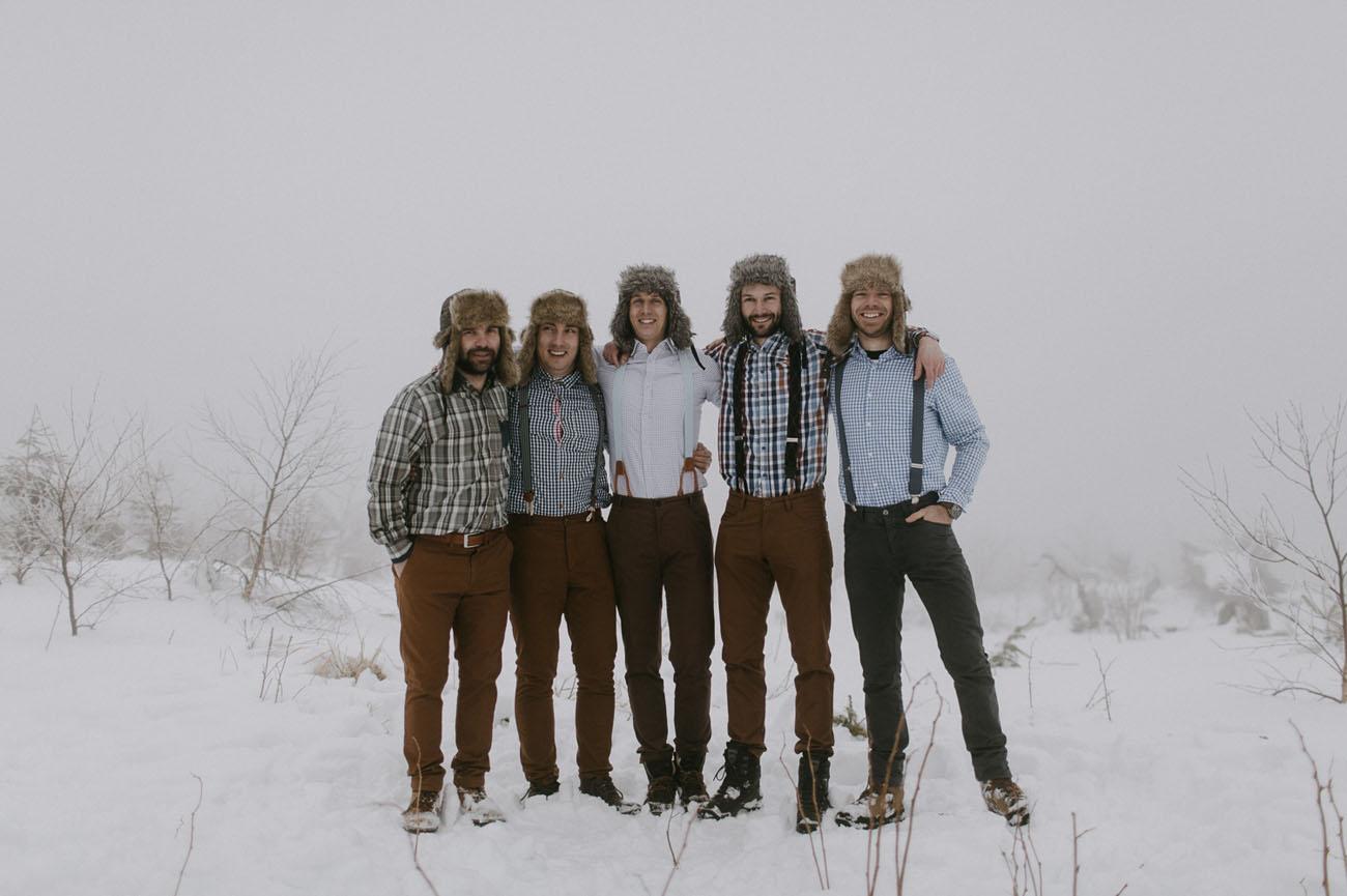 winter groomsmen