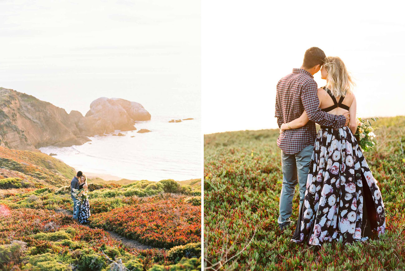 Stylish Marin Headlands Engagement