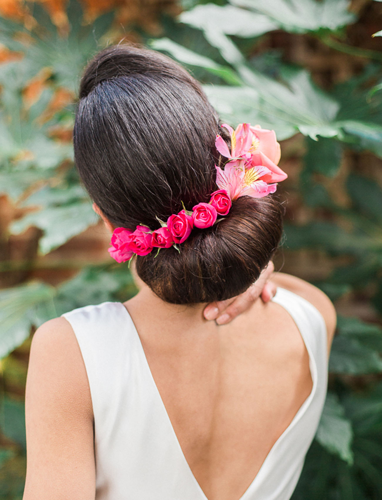 florals in hair