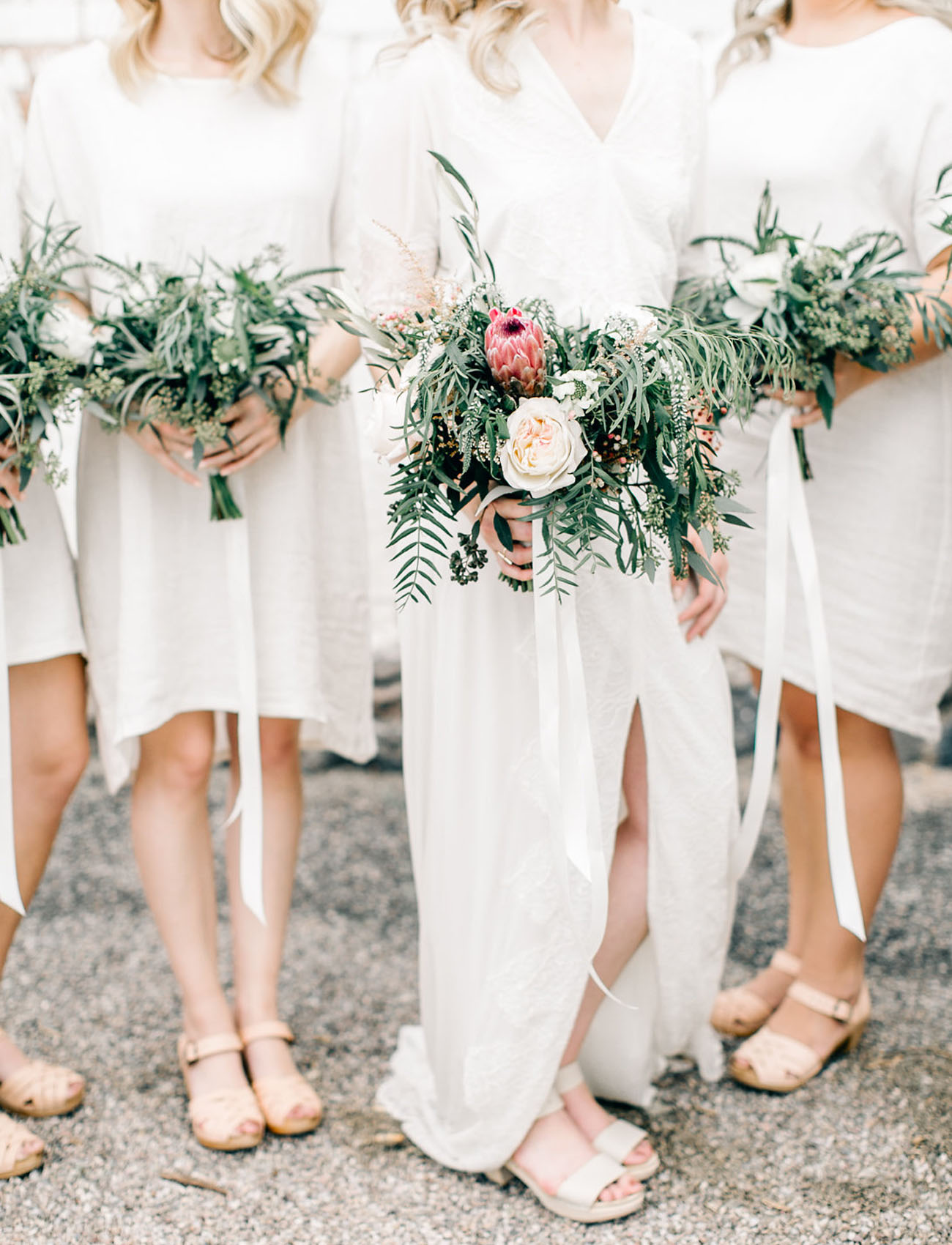 natural bridesmaid bouquets