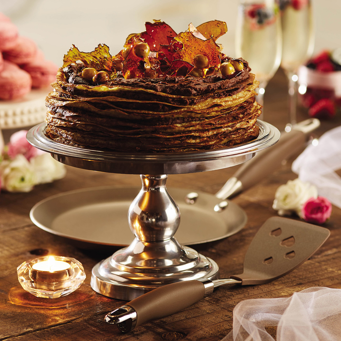 Anolon Advanced Umber Crepe Cake