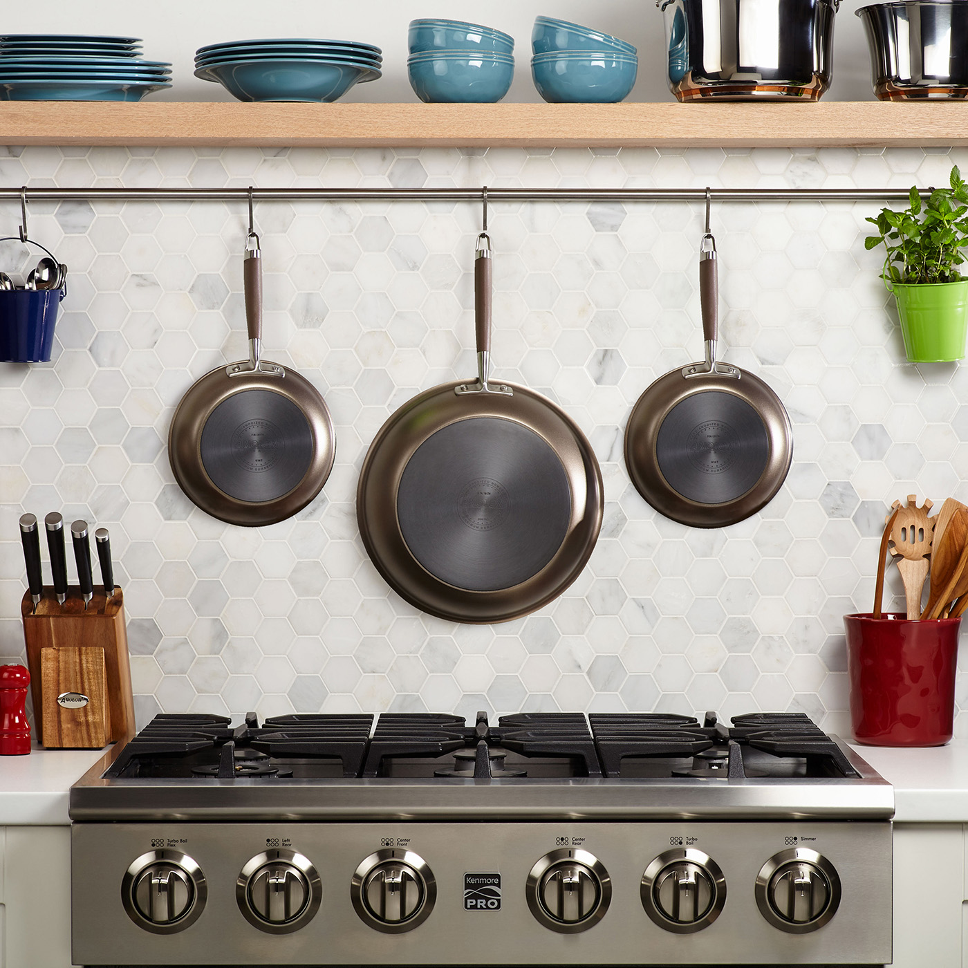 Anolon Advanced Umber Hanging Pans