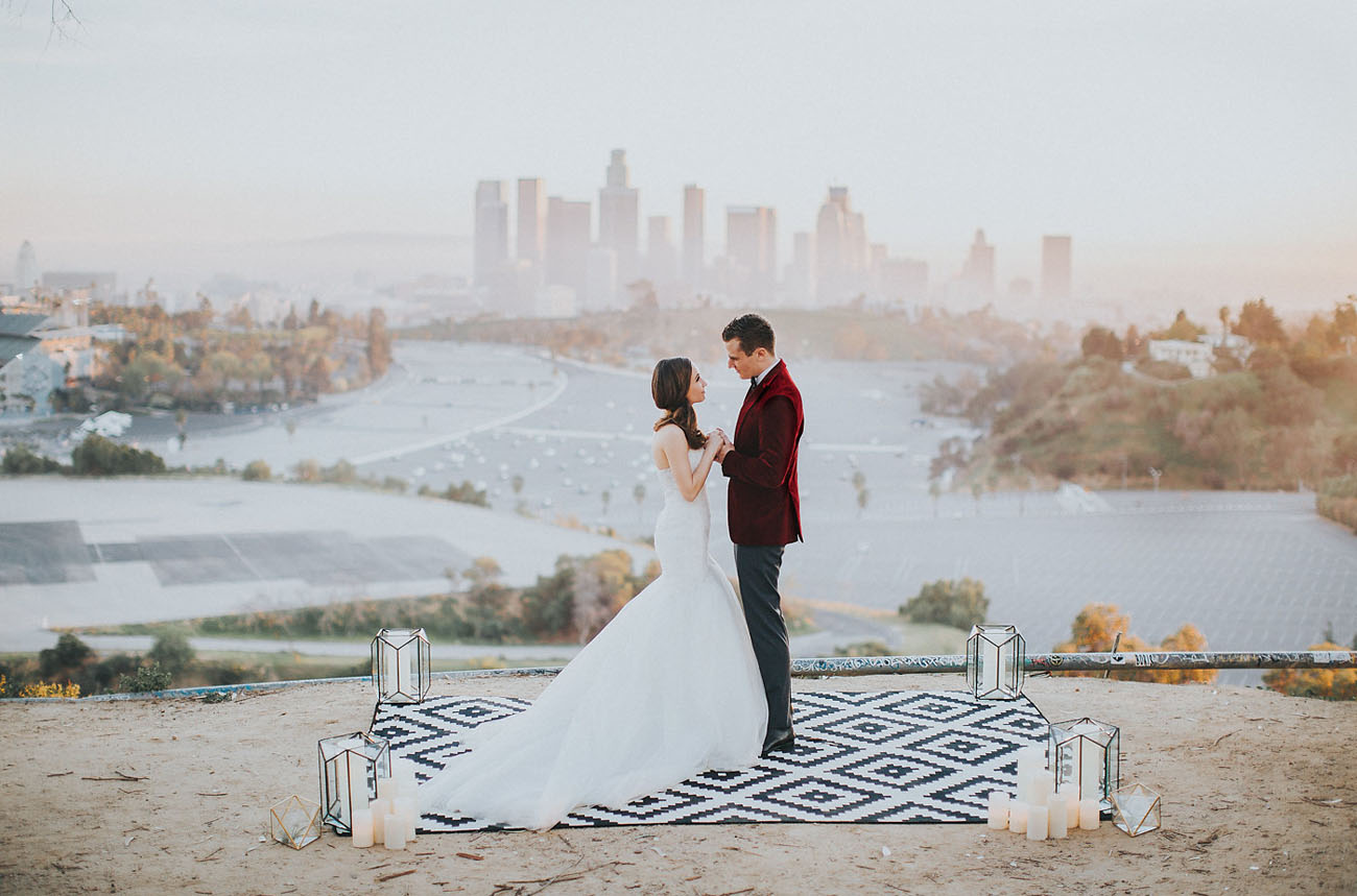 Los Angeles, California has so many great wedding venues, but sometimes you just need to step back and get a view to serve as the backdrop for your elopement