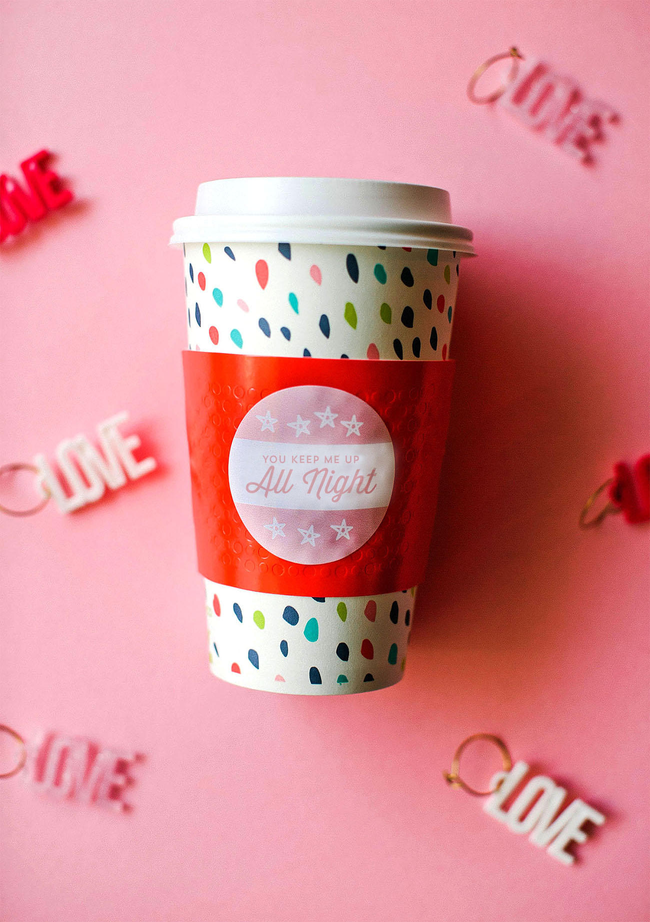 Valentine\'s Day Coffee Sleeves Free Printable - Green Wedding Shoes