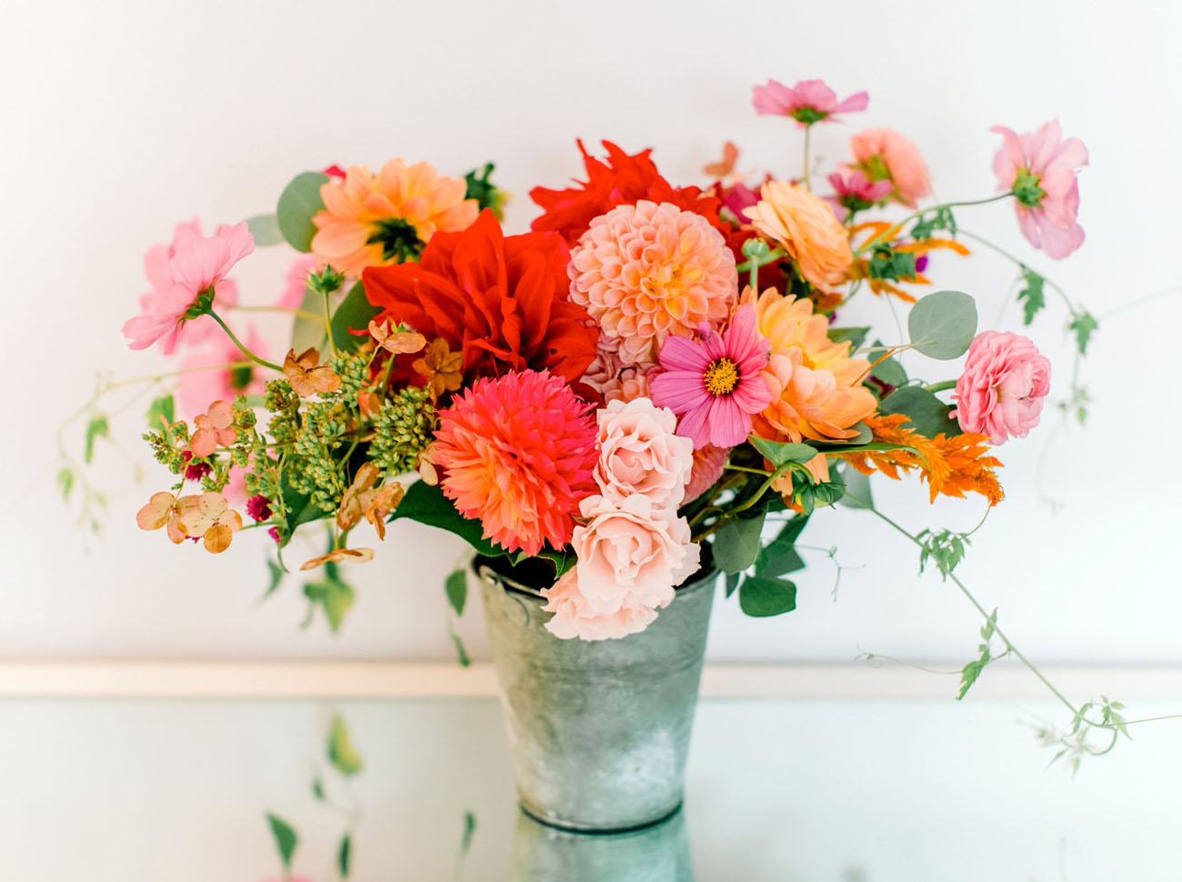 colorful red bouquet