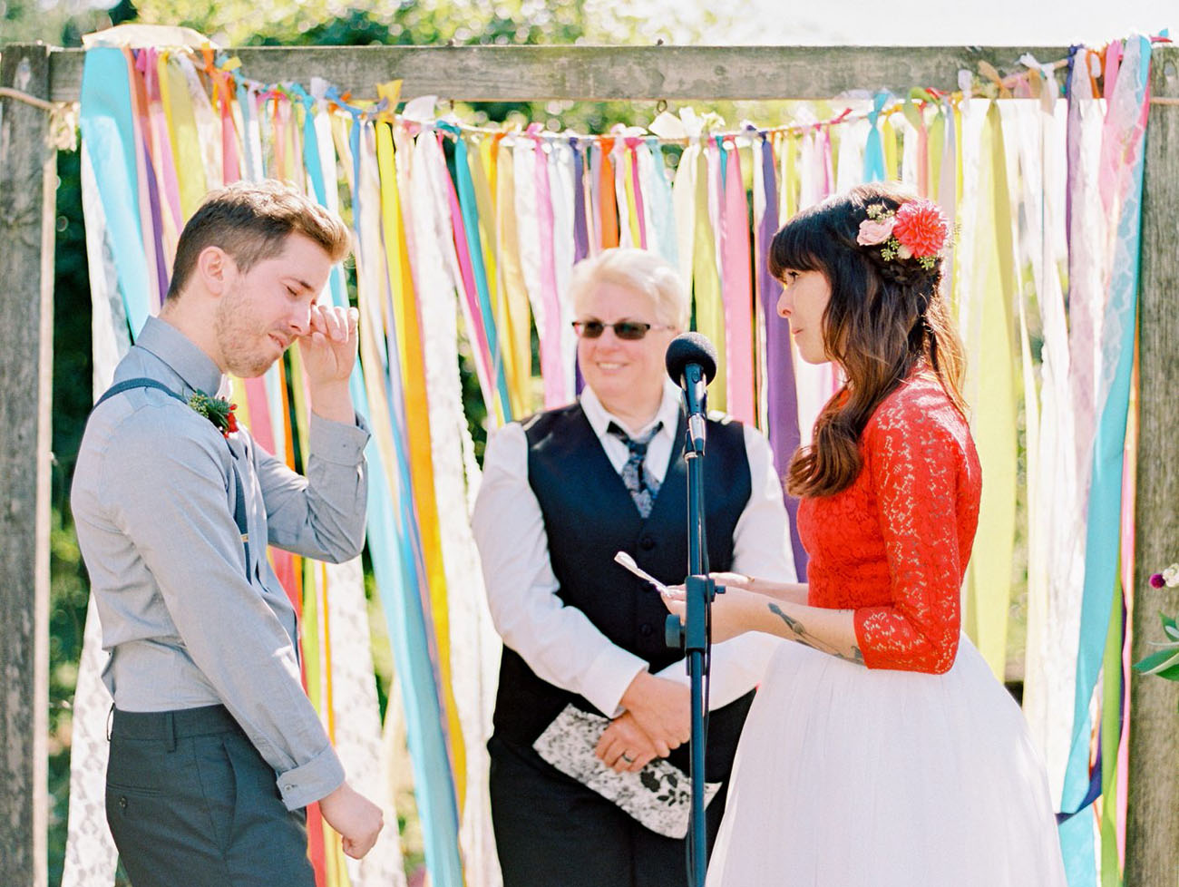 Colorful Backyard Wedding