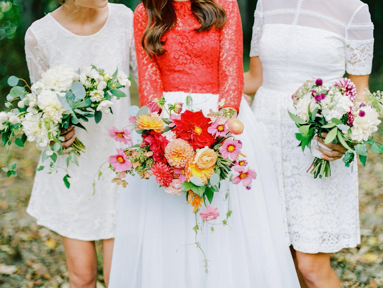 backyard bridesmaid bouquets