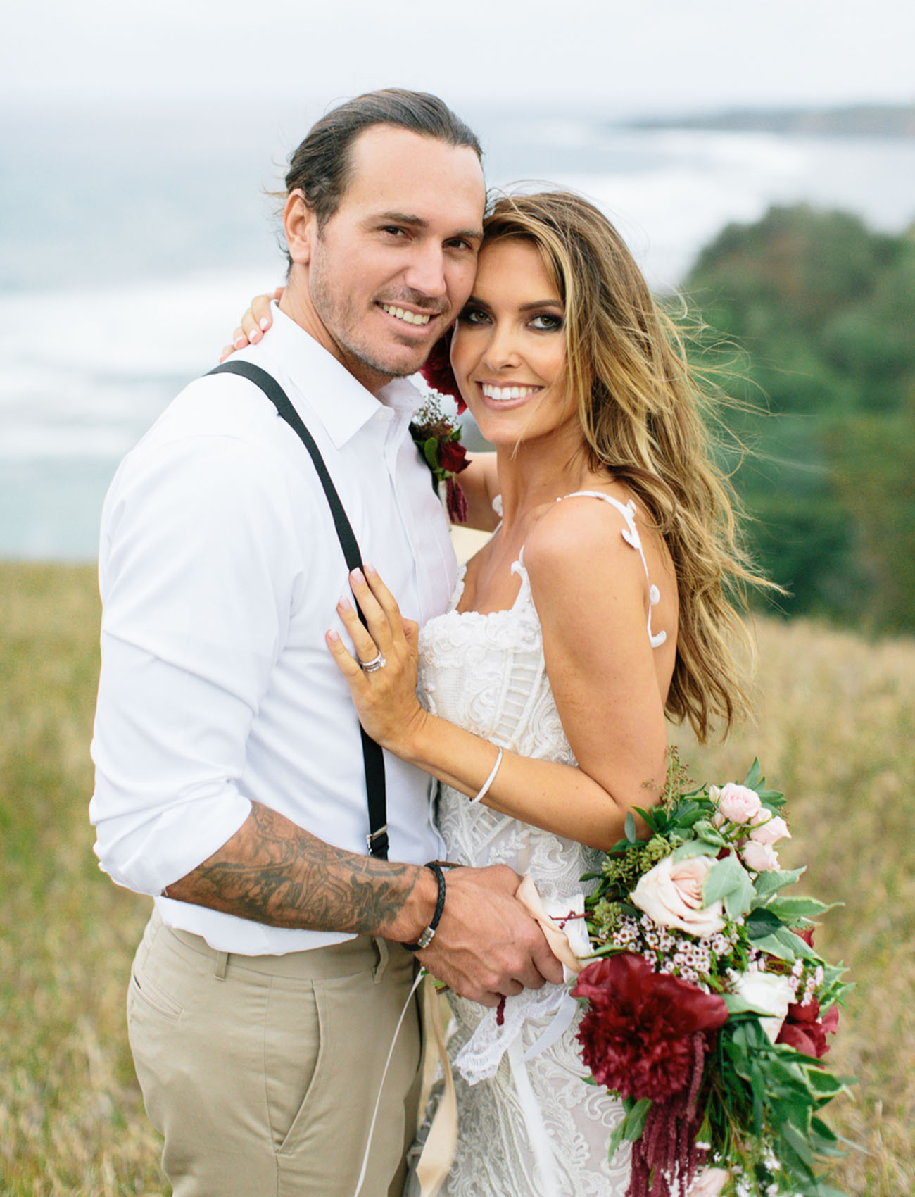 Audrina Patridge + Corey Bohan's Boho Chic Kauai Wedding