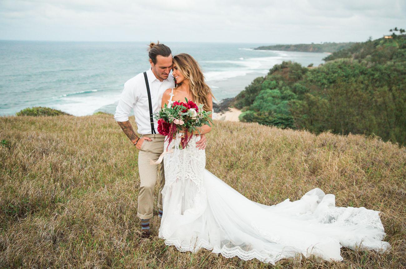 Audrina Patridge Corey Bohan S Boho Chic Kauai Wedding