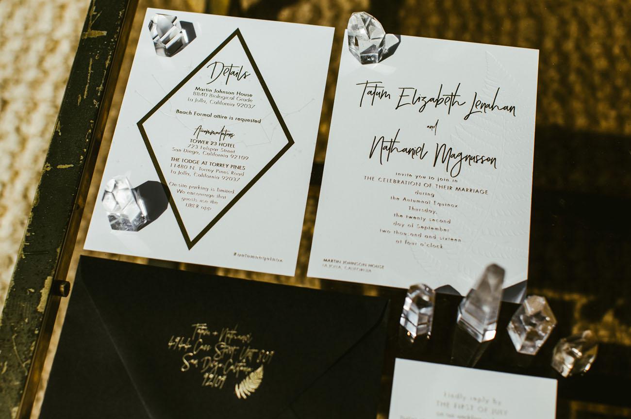 modern designed invitation