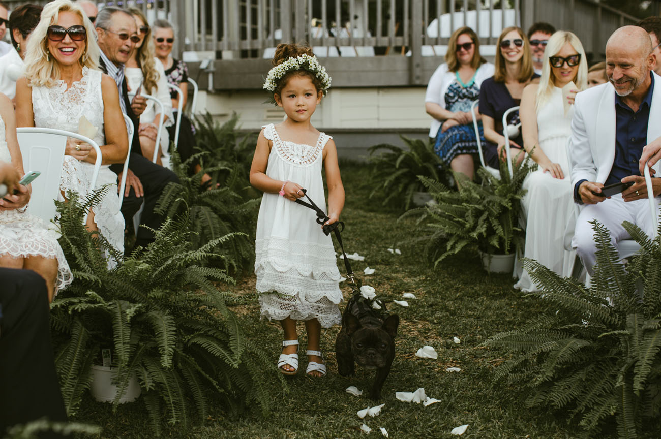 flower girl with pup