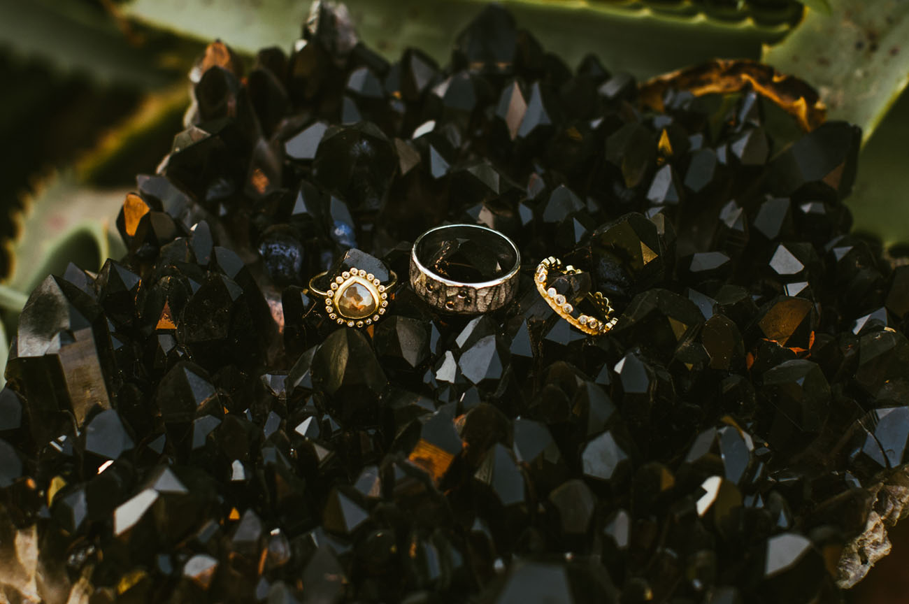 quirky gold rings