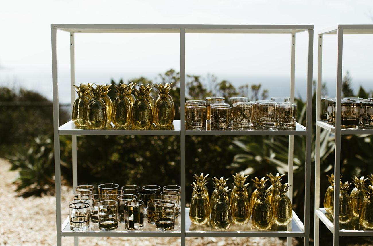 gold pineapple bar