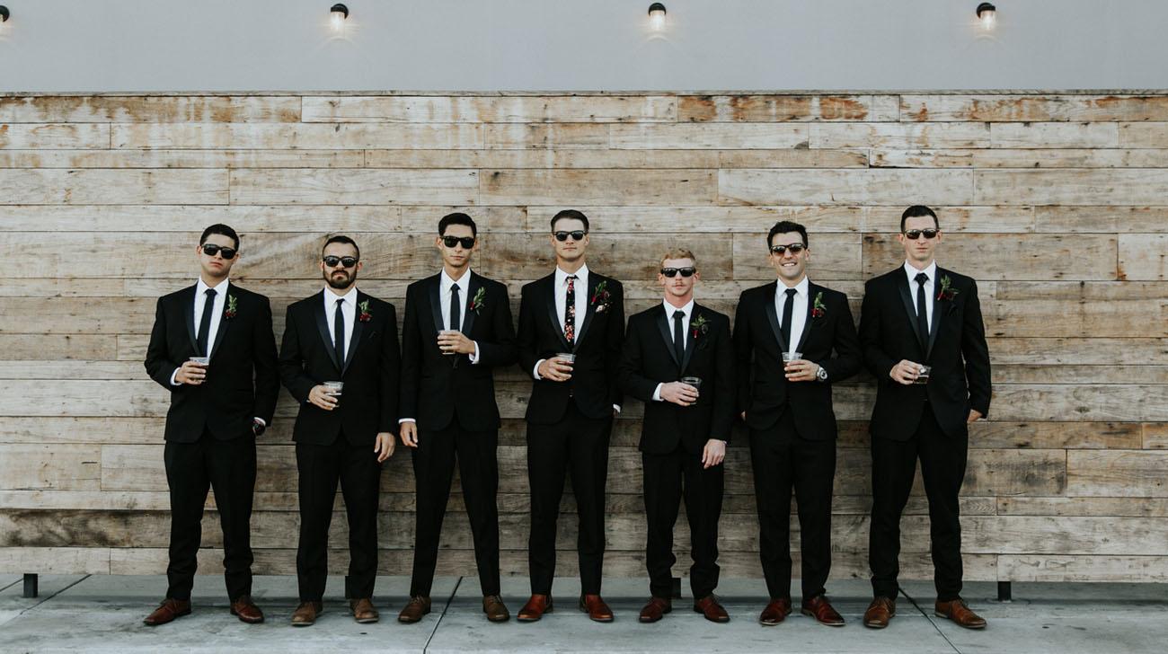 groomsmen in sunglasses