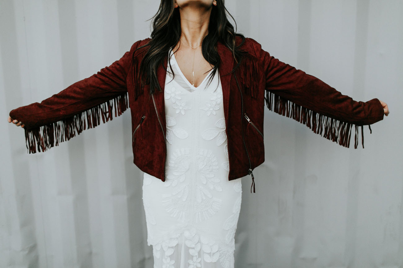 fringe bridal jacket