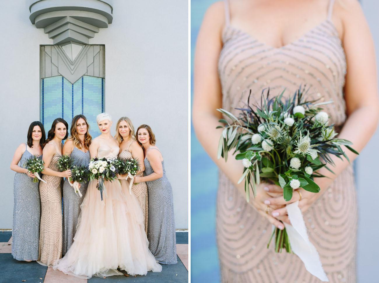 sequin bridesmaids