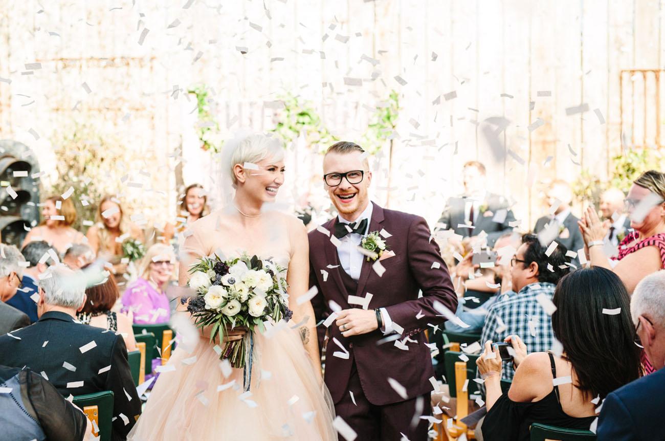 confetti ceremony exit