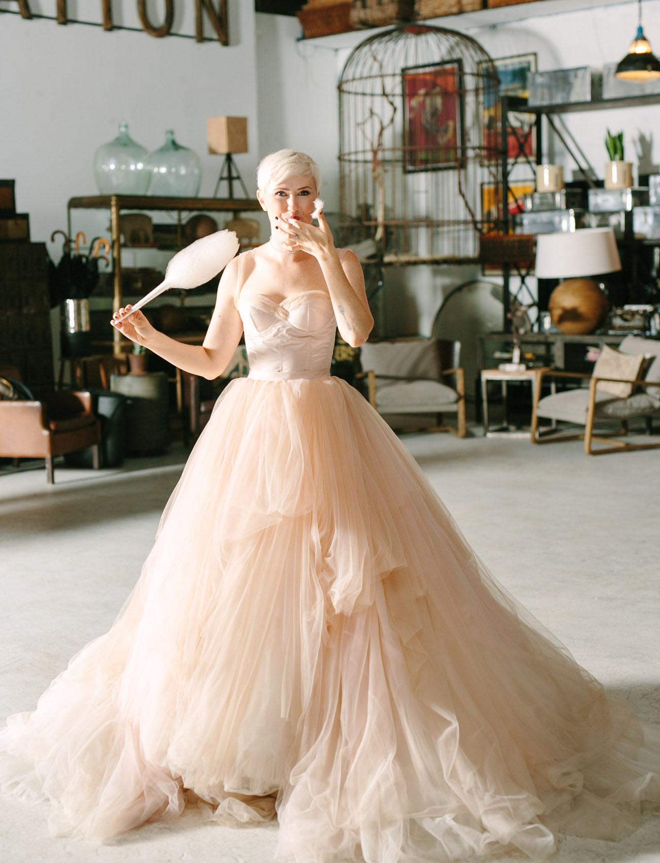 cotton candy bride
