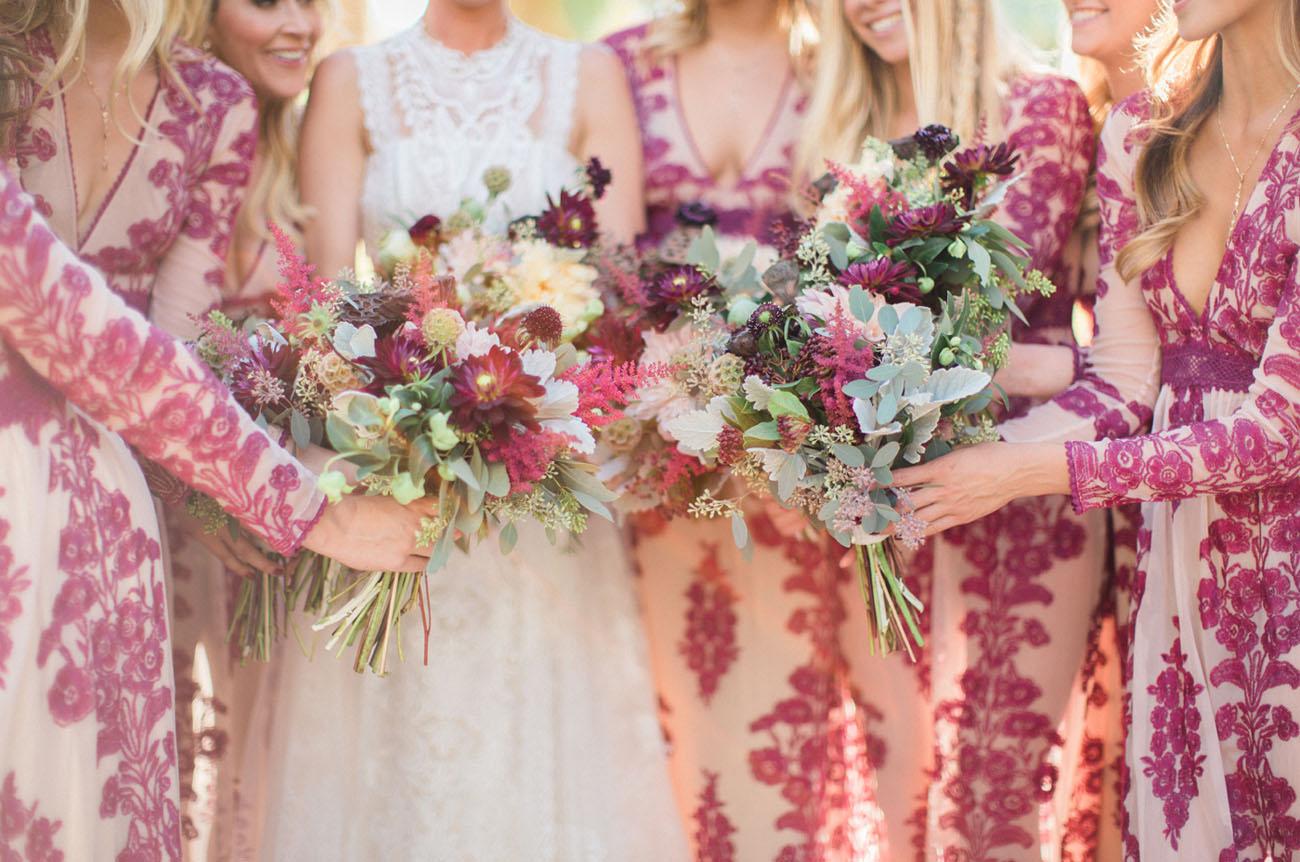 burgundy desert bouquets