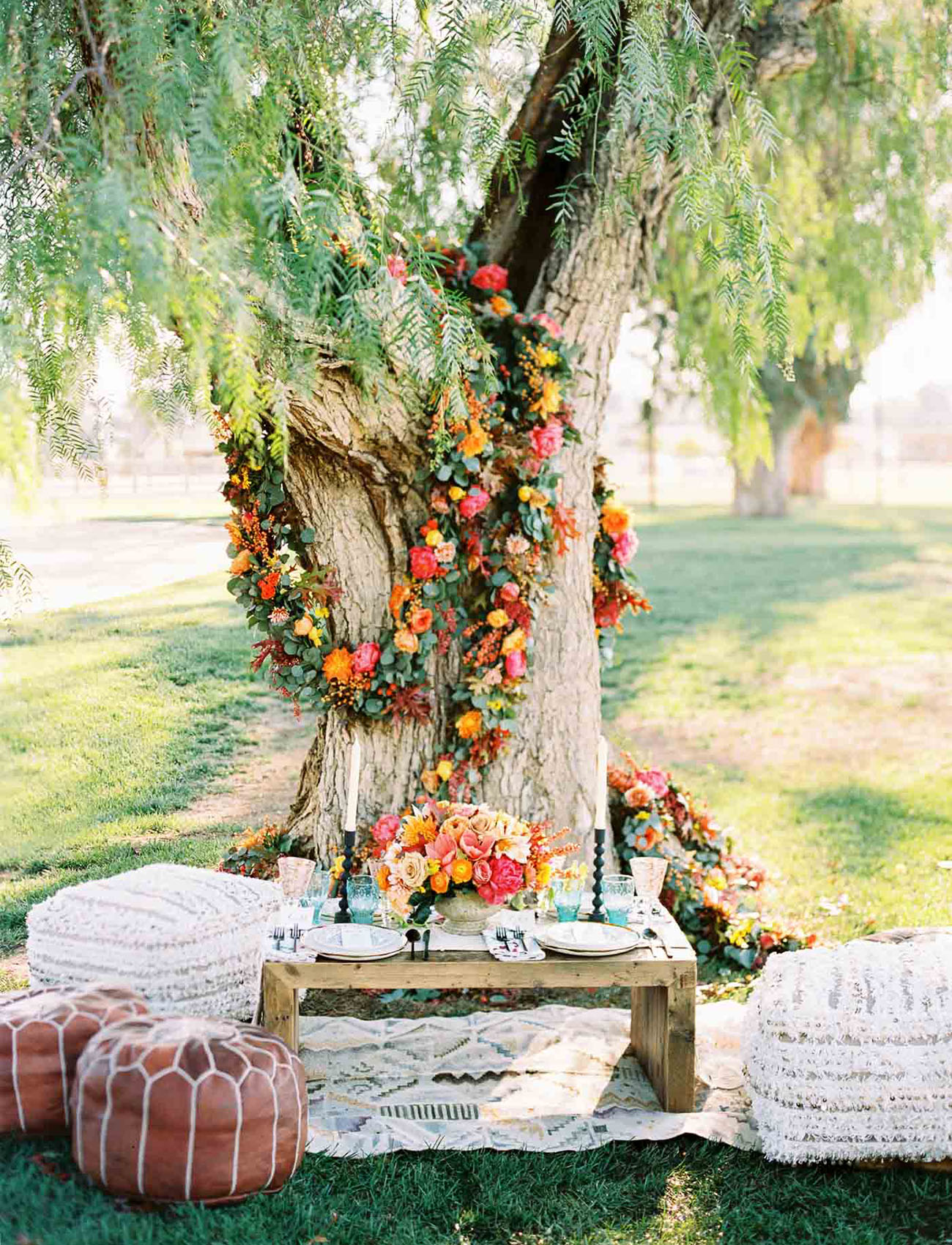 floral tree wreath